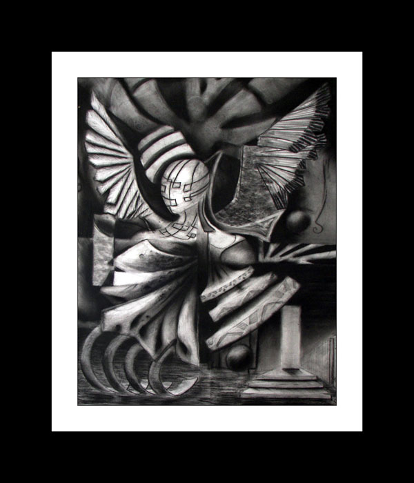 Hope of Man -- Cubisim figural influence, Abstract Contemporary Art