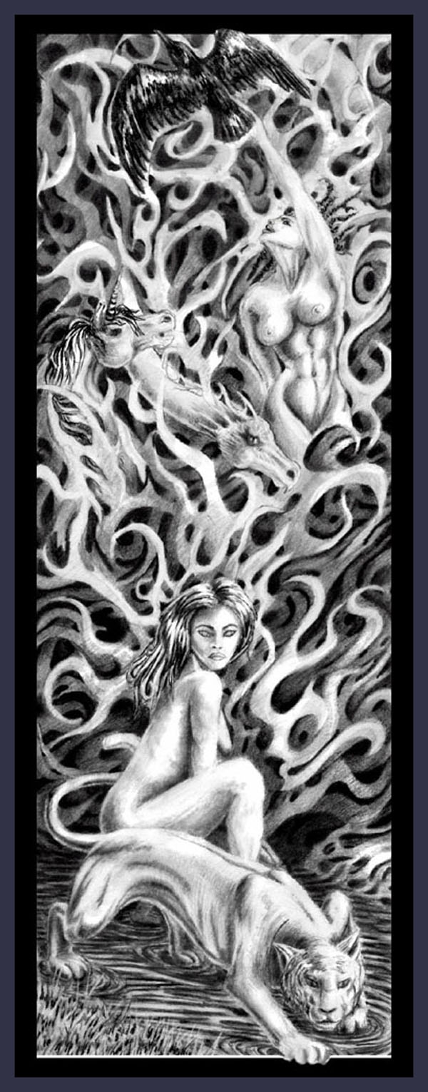 Spirit_Guide   -  Abtract/figural  fine art  print or poster Contemporary Art