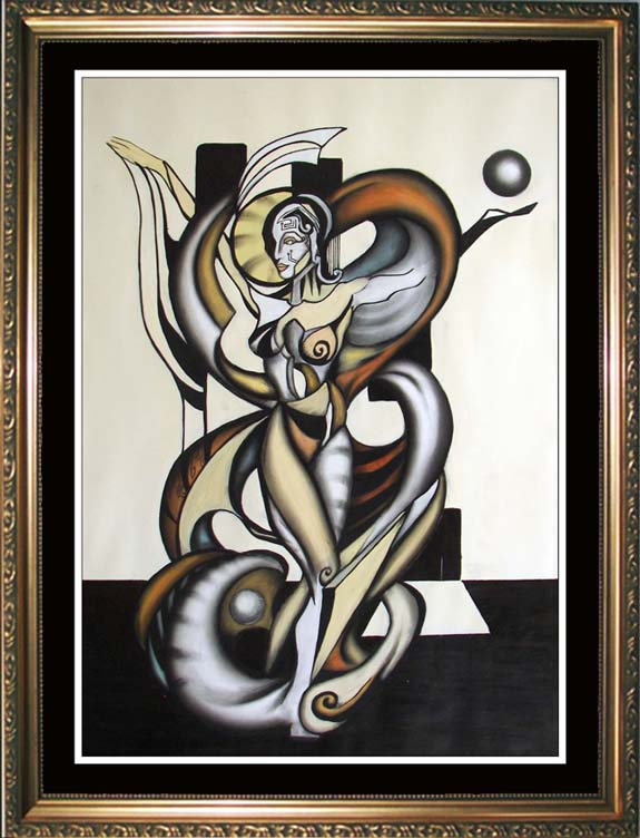 VALADIRA -- Cubism and Surrealism influenced, contemporary Painting. MANIFEST MIND COLLECTION  2008