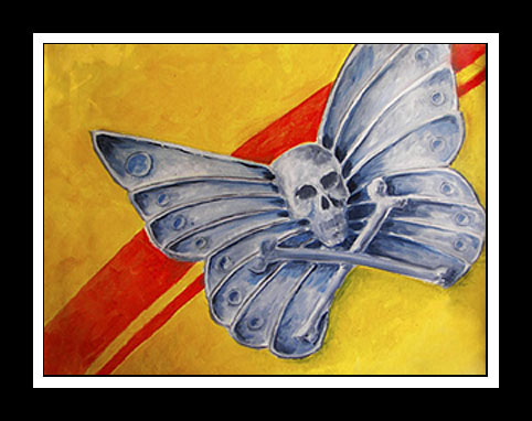 Golden_Iron_Butterfly    - Original Oil Painting, canvas