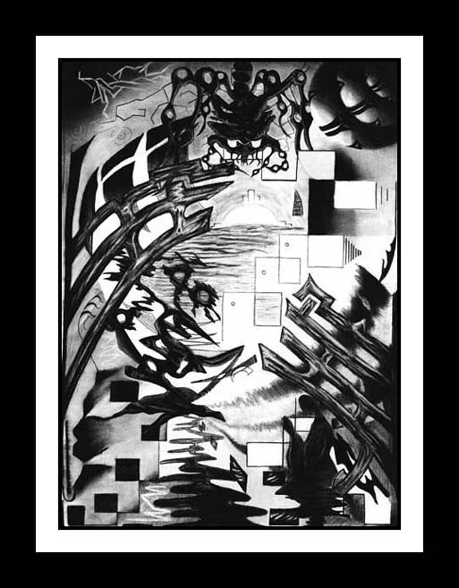 Weaver -- Cubism and Surrealism influenced Fine Art Print, poster or original, Contemporary Art
