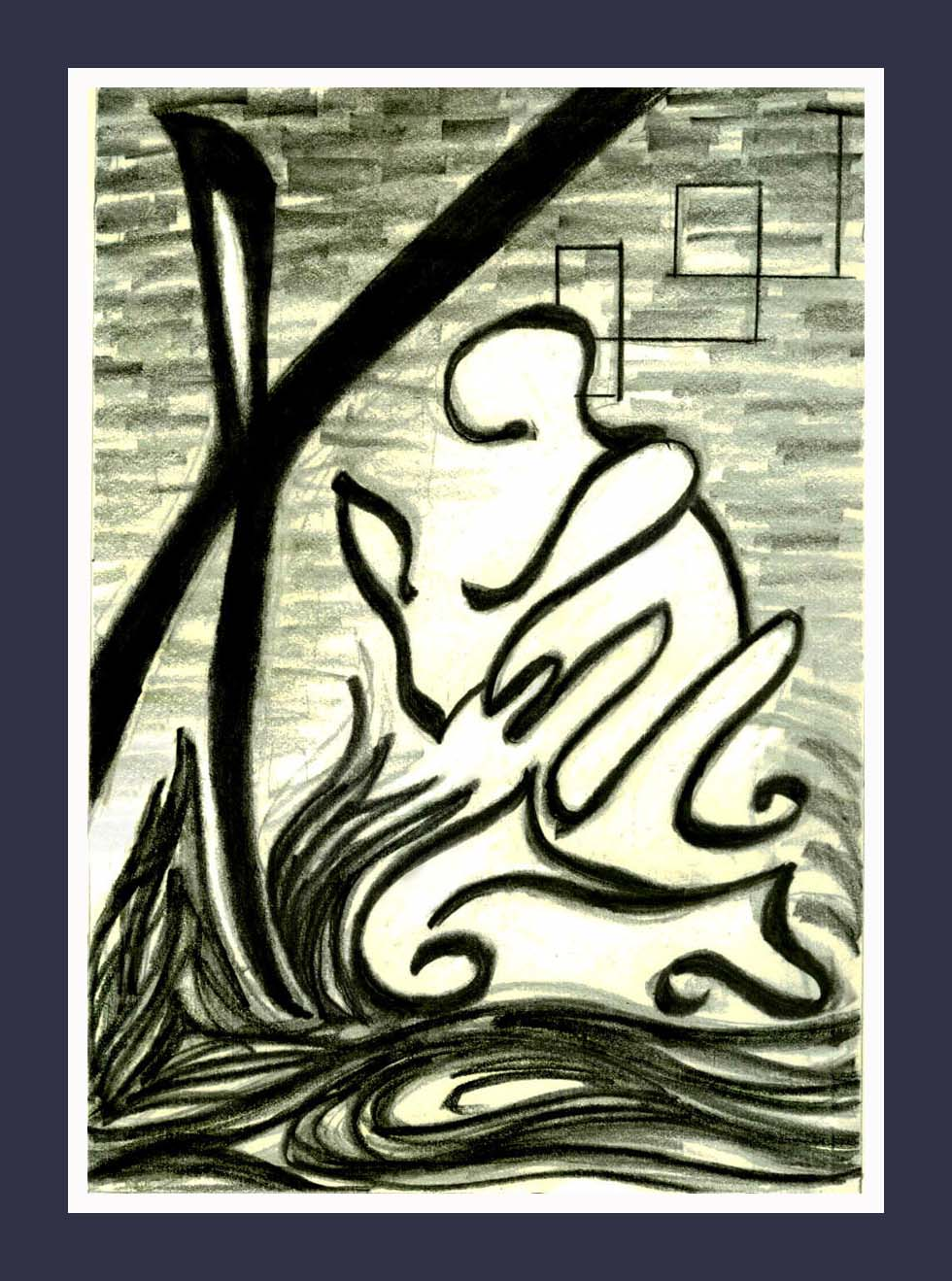 Wind_Prayer    - Abstract, figural fine art original, poster, or print Contemporary Art