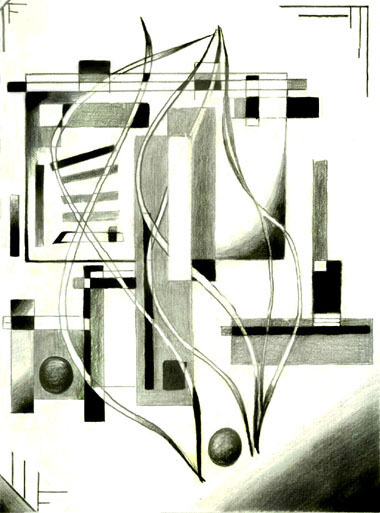 Graphite_abstract fine art print Abstract Contemporary Art