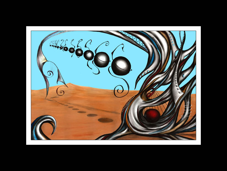 SOLD  -  MELODY      -   Original surrealism, Abstract Contemporary Art