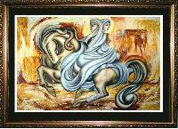 THE ESCAPE  -  A contemporay Oil Painting MANIFEST MIND COLLECTION 2009