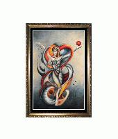 Valadira Revisted --  Cubism, Surrealism influenced, contemporary Oil Painting; MANIFEST MIND COLLECTION 2008